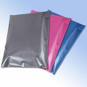 50 Mixed Mailing Postage Bags Grey Pink Blue in 4 sizes 8944430021643