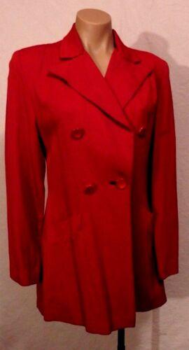 40s RED Gabardine Jacket by Lady Barrington sz S-M