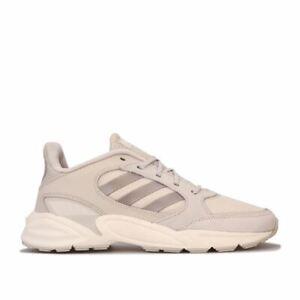 Femme-Adidas-90-S-valasion-Respirant-Amorti-Chaussures-De-Course-En-Blanc