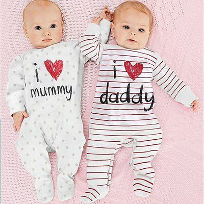 Baby Boy Girls Kids Newborn Infant Romper Hat Bodysuit Outfit Clothing Set 0-3Y