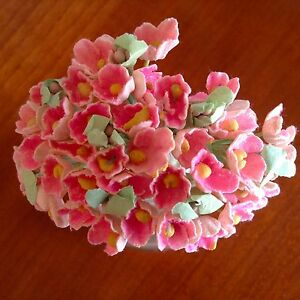 Vtg millinery flowers forget me not bunch pink bloom for doll hat image is loading vtg millinery flowers forget me not bunch pink mightylinksfo