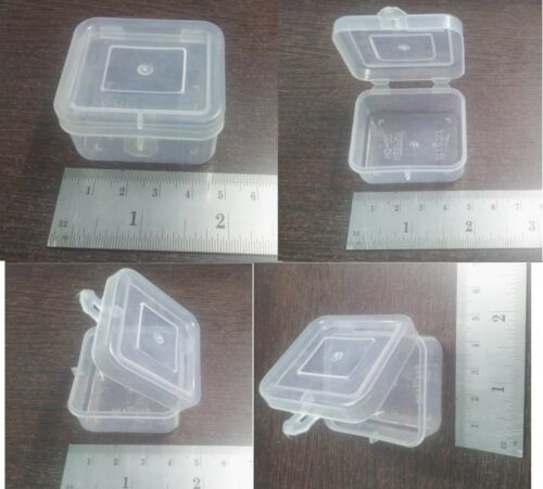 Clear Plastic White Boxes Container Beads Crafts Parts Storage Box 4.5x4x2 cm