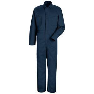 Red Kap 100/% Cotton Button-Front Work Uniform Coverall Irregular CC16 NV// PB// HB