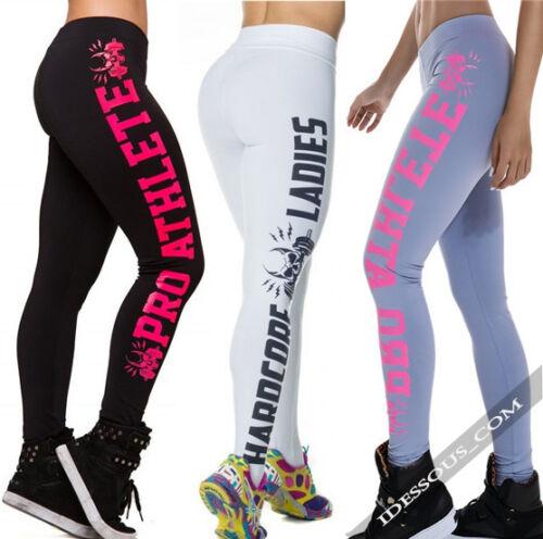 Trainingshose Damen Funktionshose lang Fitnesshose Stretch Laufhose Hose S M L