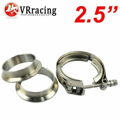 """2.5 inch V-Band QUICK RELEASE CLAMP+COLLAR SET 2.5/"""" STAINLESS STEEL Vband KIT"""