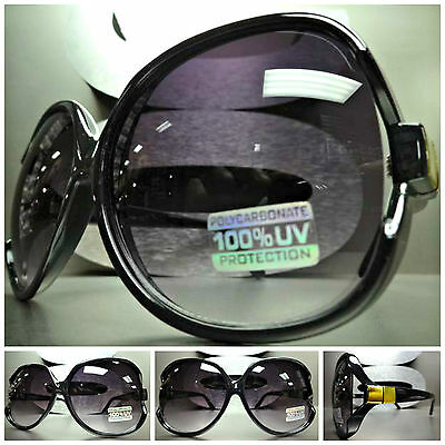 EXAGGERATED HUGE OVERSIZE VINTAGE RETRO JACKY Style PARTY SUNGLASSES Black Frame