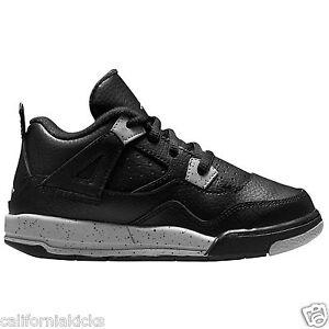 03002bd72838f3 JORDAN Retro 4 LS BT Toddler Shoes sz 7C Oreo Edition Black Tech ...