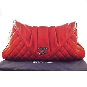 Chanel-Red-Quilted-Satin-Half-Moon-Envelope-Clutch