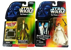 Hasbro Kenner Star Wars Han Solo & Princess Leia Lot of 2 Action Figures Sealed