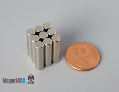 "5mmx 19mm  3//16/"" x 3//4/""  N40 Rare Earth  Neodymium Cylinder//Rod Magnets"