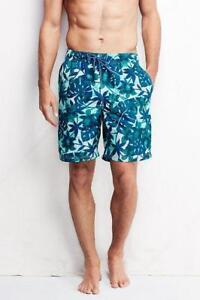 83a210122e new LANDS END mens print volley swim trunks shorts XXL 46 48 ...