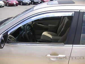 Chrome Trim Window Visors Fits Honda Accord 2003 04 05