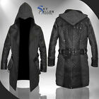 Assassins Creed Syndicate Jacob Frye Men's Black Leather Wool Trench Coat