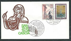 1981 Vaticano Busta Speciale Venetia 504 Santa Rita Da Cascia - Sv14 PréVenir Et GuéRir Les Maladies