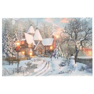 Christmas Led Canvas.45 30 1 5cm Christmas Decoration Light Up Led Canvas Wall Art Picture Brand New Ebay