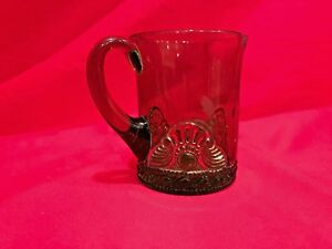 Details about Antique Green Souvenir Glass Cup with Gold Coloring Etched  1902