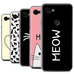 Gel-TPU-Case-for-Google-Pixel-3a-XL-Cute-Cartoon-Cat