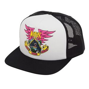 Santa-Monica-Airlines-Natas-Kaupas-PANTHER-Skateboard-Trucker-Hat-WHITE-BLACK