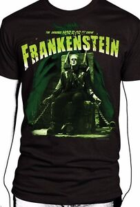 UNIVERSAL-MONSTERS-FRANK-FRANKENSTEIN-ELECTRIC-CHAIR-CLASSIC-HORROR-T-TEE-SHIRT