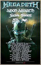 MEGADETH AMON AMARTH SUICIDAL TENDENCIES HAVOK 2016 Tour Ltd Ed New RARE Poster!