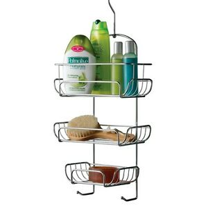 Exceptional Image Is Loading 3 TIER CHROME HANGING SHOWER CADDY STORAGE TIDY