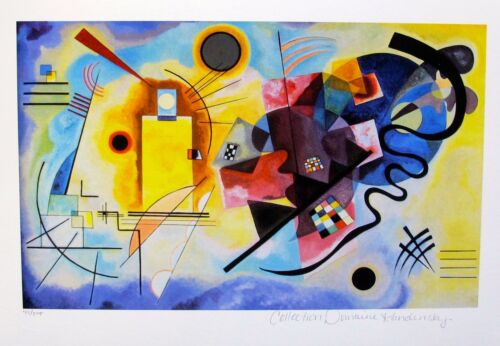Wassily Kandinsky YELLOW RED /& BLUE Estate Signed Limited Edition Art Small