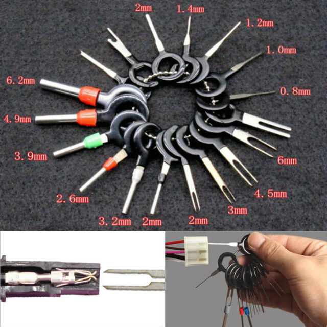 18x Car Electric Service Tool Terminal Wire Removal Cable Connector Pin Extract