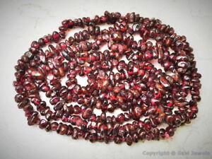 GARNET-6-3mm-Chips-Gemstone-Beads-34-034-long-strand-lots-of-beads