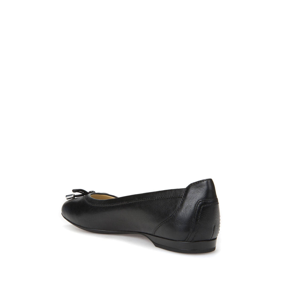 GEOX Women's Women's Women's flat shoes leather black with bow D825DD linea LAMULAY d71c72