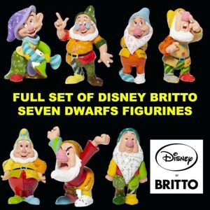 FULL SET Disney Britto 7 Dwarfs Bashful Doc Dopey Grumpy Happy Sleepy Sneezy NEW