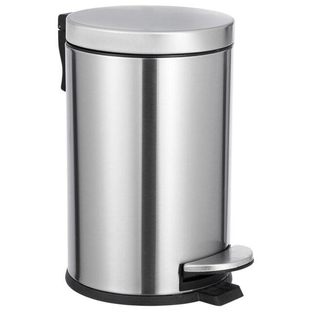 Silver 2 Gallon Bedroom Bathroom Wastebasket Kitchen Garbage Bin Trash Waste Can For Sale Online Ebay
