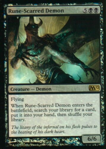 MTG Rune-Scarred Demon FOIL  NM M12  Magic