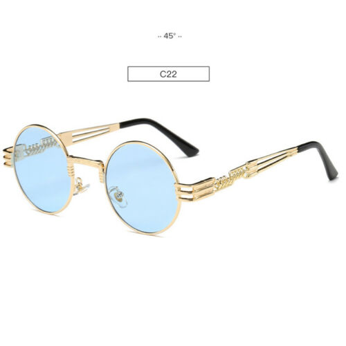 Luxury Round Metal Steampunk Sunglasses Retro Vintage John Lennon Sunglasses