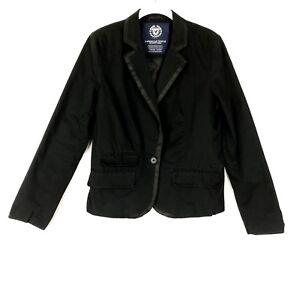 American-Eagle-Aeo-Women-Boyfriend-Blazer-Size-Medium-Black-85