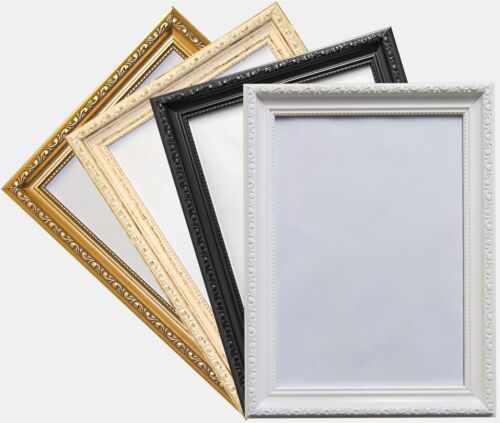 Ornate Shabby Chic Style Black Picture Photo Poster Frame 19x13 Ebay