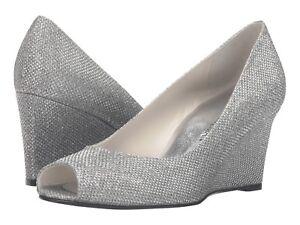 3c8c2fd4af2 NIB Stuart Weitzman Annaform Women s Size 8 Silver Noir Formal ...