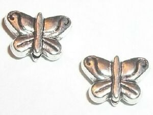 50-Antique-silver-pewter-10x7mm-butterfly-spacer-beads-50-pieces-M9053