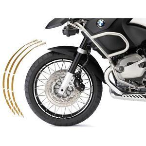 PROFILI CERCHIO BICOLORE ADESIVI ADESIVO CERCHI BMW F800 R WHEEL BIANCO ORO