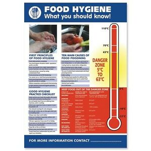 Food Hygiene Health and Safety Poster H420xW595mm HS107 | eBay