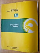 Original John Deere 1610 Series Drawn Chisel Plow Operators Manual Om N200034