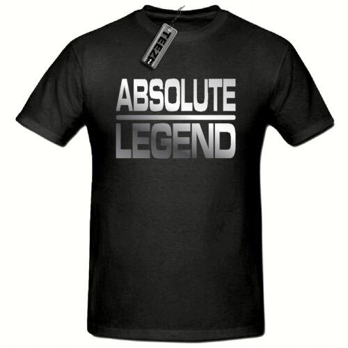 Absolute Legend t shirt Funny Novelty Mens T shirt, Silver Slogan t shirt