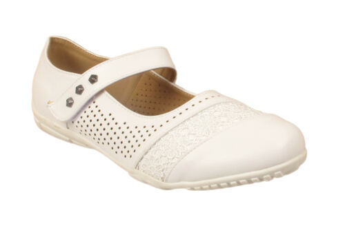 Ladies Womens Studded Casual Comfort Wide Summer Lace Shoes Large Plus Sizes