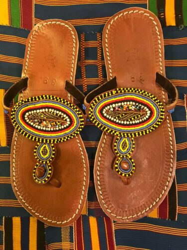 African-beaded-hand-made-leather-slippers-flip-flop 39