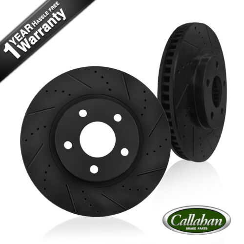 Front Drilled /& Slotted Brake Rotors For Mercedes Benz E320 W211 E350
