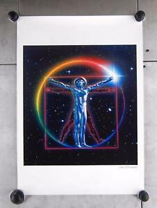 Chris-Moore-Signed-Vitruvian-Space-Man-Scifi-Science-Fiction-Art-Print-23-034-x-16-034