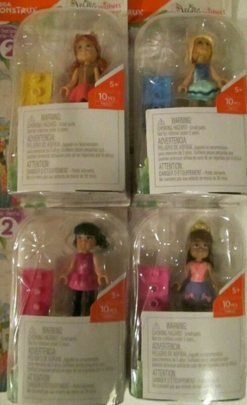 Girl Lot of 5 Mega Construx Wellie Wishers Series Two Doll Figures New Amer