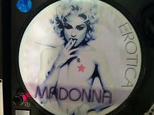 "Madonna - Erotica Mega Rare Sexy Nude Picture Disc 12"" Promo Maxi Single LP MINT"