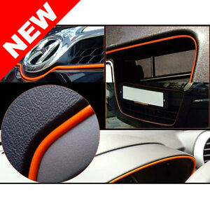 Universal car interior exterior orange molding trim 3 Automotive exterior trim design pdf