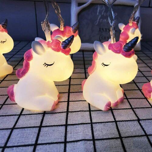 AceList Children/'s Room Cute Animal Pink Unicorn LED String Lights A1