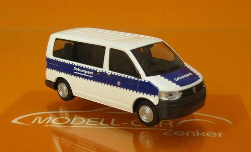 Rietze 53442 Volkswagen T5 ´10 Ordnungsamt Düsseldorf Scale 1 87
